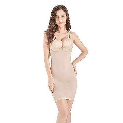 hunpta@ Shapewear Damen,Shapewear Damen Bauchweg,Frauen ultradünne High-Waisted Control Shapewear Slim Body Shaper Kleid Formende Bodys für Damen(Beige,M) (Power Body Shapewear)