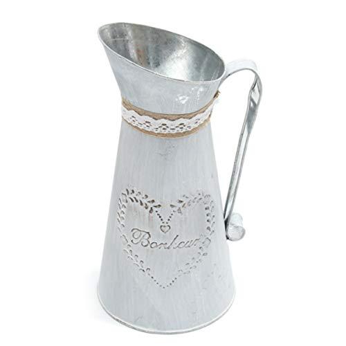 DyNamic Rustikale Eisen Krug Vintage Country Style Krug Blume Metall Vase Pflanz...