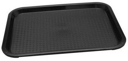 Preisvergleich Produktbild 1x Tablett MODERN 41 x 31 cm schwarz Servier -,  Abräumwagen