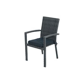 Exceptional Ploß Stapelsessel Swinging   Polyrattan Gartensessel Mit Sitzkissen In  Anthrazit   Korbsessel Mit Armlehnen 64cm Nice Design
