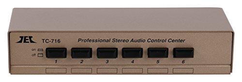 Eurosell Stereo Audio-Umschaltbox für 6 Geräte - Audio Verteiler Umschalter Schalter Schaltbox Weiche 6fach