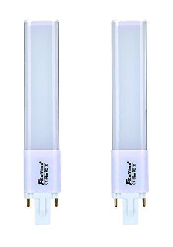 FExYinz MEHRWEG 2er-Pack G23 LED-Lampe 2 Jahre Garantie 7 Watt Natürliches Weiß 4000K 700 Lumen Ra 90 Hineinstecke 2 Nadel PL Lampe CFL Kompakte LED-Lampe G23 LED Leuchtstoffröhre -