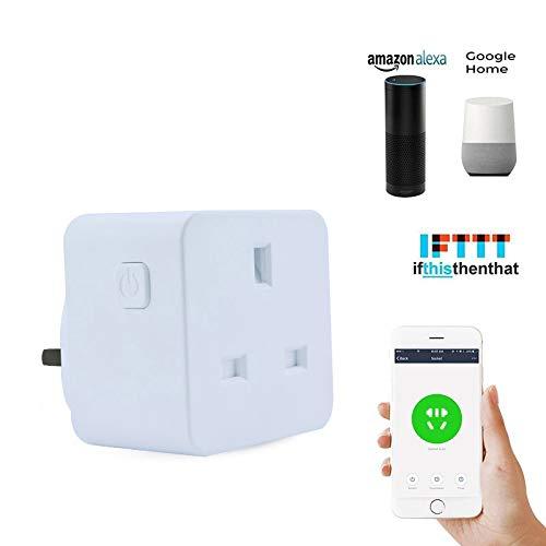 WY-Tong Steckdose Smart Socket English Gauge quadratische Steckdose Wifi Wireless Switch-Time-Stecker