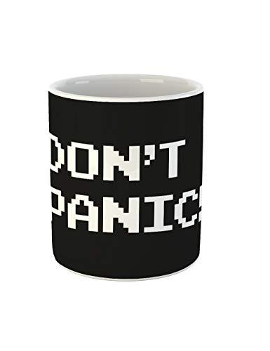 clothinx Kaffee-Tasse mit Aufdruck Sprüche Dont panic