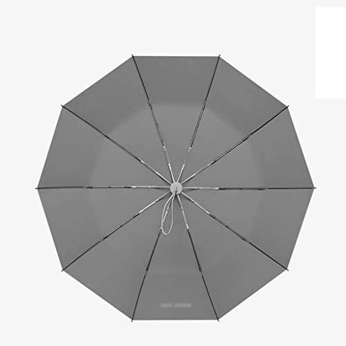 Automatischer Regenschirm Windproof Large Folding Rain mit doppeltem Verwendungszweck für Männer Einfacher automatischer Regenschirm (Color : Green, Größe : 116 * 107 * 61cm)