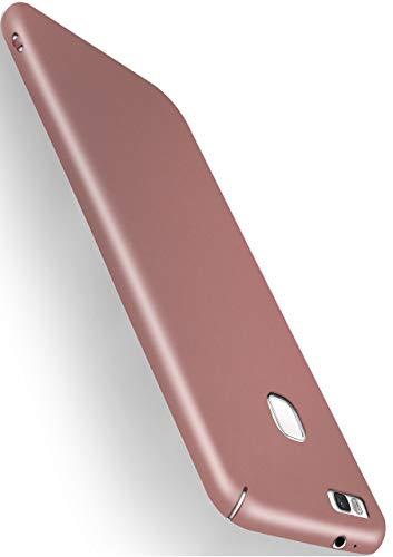MoEx® Backcover [Ultra-Slim Design] passend für Huawei P9 Lite | Stabile Hartschale mit optimalem Stoß- und Kratzschutz - Matt Metallic Rosé-Gold