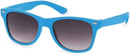 styleBREAKER Kinder Sonnenbrille, klassiches Retro, Nerd Design 09020056, Farbe:Gestell...