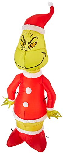 Funkelndes aufblasbarer Grinch als Weihnachtsmann 4'Hoch