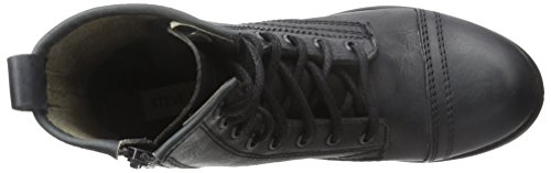 Steve Madden Charrie Combat Boot Black Leather
