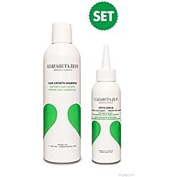 2018 Starter Set - ELIZABETA ZEFI - Detox Serum & Hair Growth Shampoo - verringert Haarausfall, sorgt für mehr Haardichte und fördert den Haarwuchs*