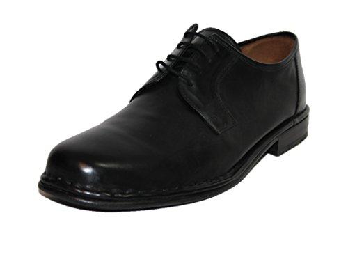 Manz , Chaussures de ville à lacets pour homme Noir Noir Noir - Schwarz (schwarz 001)