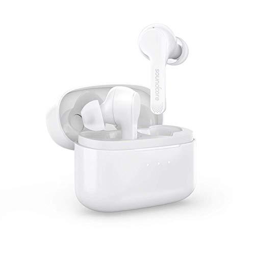 Soundcore Liberty Air Auriculares inalámbricos con estuche de carga, Bluetooth 5, tiempo de reproducción de 20 horas, control táctil, sonido mejorado con grafeno