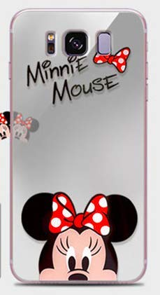 Coque Samsung Galaxy S9 Minnie Mickey Mouse Effet Miroir Design Silicone Souple