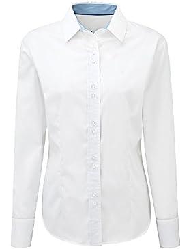 Alexandra stc-nf84wh-16camiseta de manga larga para mujer, plain, 100% algodón, tamaño 16, color blanco