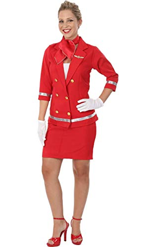 Fancy Dress Hostess Kostüm Air - ORION COSTUMES Adult Sizzling Red Air Hostess Costume
