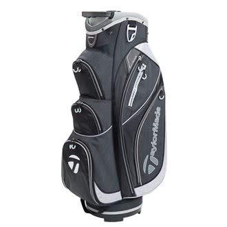 TaylorMade Golf 2018 Classic Cart Bag Mens Trolley Bag 14 Way Divider Black/Black Heather/Silver -