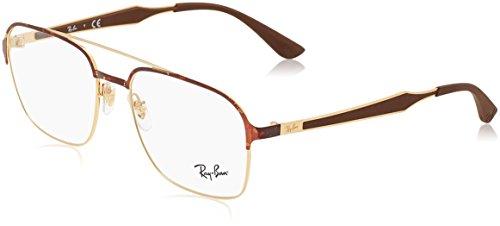 Ray-Ban Unisex-Erwachsene Brillengestell 0rx 6404 2917 54, (Gold/Havana)