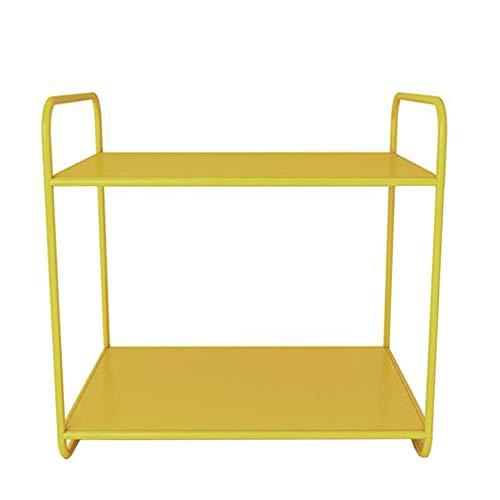 JCNFA Desktop-Regal Metallrahmen-Lagerregale Künstlerischer Buchorganisator, Für Home Office Robust , 2 Schichten, 5 Farben (Farbe : C, größe : 13.77 * 9.84 * 13.38in)