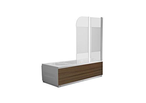 faltbare duschwand fuer badewanne Glas Duschabtrennung DALLAS SATINGLAS Badewanne Faltwand Duschwand Badewannenfaltwand Nanobeschichtung - 6mm ESG Glas - faltbar