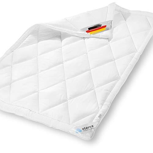 etérea Microfaser Steppdecke - Frieda Medisoft - 95° waschbar, Kochfest & Allergiker geeignet - Ganzesjahres Steppbett, 135x200 cm, Weiß, Bettdecke Made in Germany