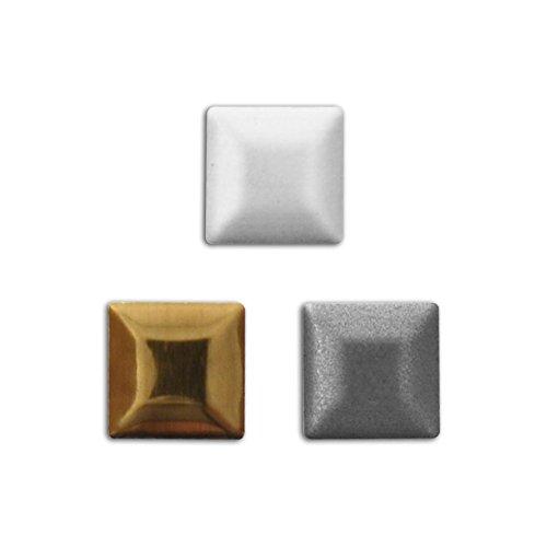 Mademoiselle Toga mec053300Stück Nägel zum Aufbügeln quadratisch Metall Silber/Bronze/anthrazit 0,7x 0,7x 0,1cm
