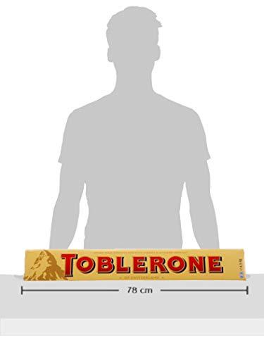 Toblerone Schokolade - Feine Schweizer Milchschokolade mit Honig- und Mandelnougat - 4,5kg