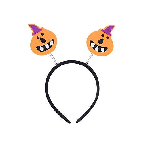 Aisoway 1pc Halloween-Geist-Schädel-Entwurfs-Kostüm Kopfstück - Feiern Verkleiden Partei Stirnband - Masquerade Festival Dekoration- Stellen Kopfschmuck Zubehör (Halloween Clown Animierte Requisiten)