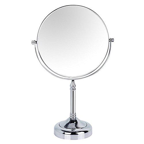 GuRun Doppelseitiger Kosmetikspiegel, 1 /10-Fach Vergroesserung, Durchmesser 20cm, verchromte Kupfer...