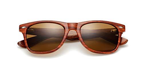 DAIYSNAFDN Handgefertigte Holz Sonnenbrille Männer Frauen Platz Sonnenbrille Holz Brille Uv400 Spiegel C2