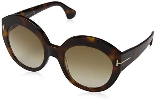 Tom Ford Unisex-Erwachsene FT0533 53F 54 Sonnenbrille, Braun (Avana Bionda/Marrone Grad),