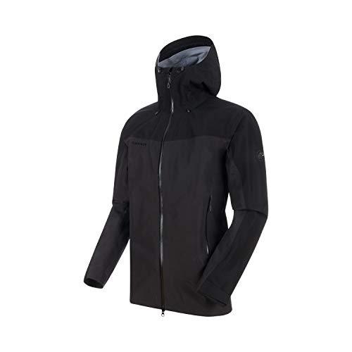 Mammut Herren Crater Hooded Hardshell-Jacke mit Kapuze, Phantom-Black, XL