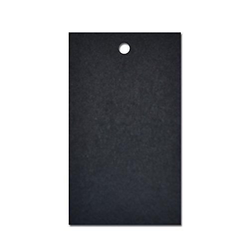 Schwarz Preisschild Etikett Karte Hang Tag 60mm x 40mm (100er Pack)