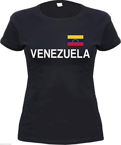 TYML Heißer Mode Damen T-Shirt Print-Schwarz-S Bis XL-Caracas T Hemd -