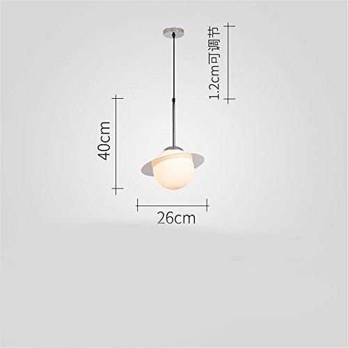 Nordic lampadario creativo al posto letto Camera da letto accensione a caldo della lampada lampada Ristorante Bar Lampada da tavolo,testa singola chrome