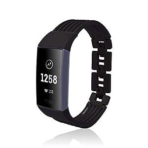 fitjewels Ashbury band kompatible mit Charge 3 fitness tracker - Black