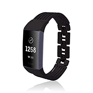 fitjewels Ashbury band kompatible mit Charge 3 fitness tracker – Black