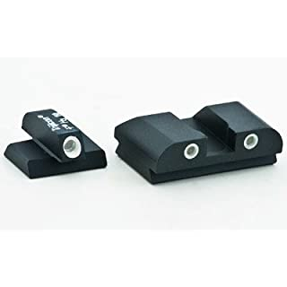 AmeriGlo Classic Sight 3 Dot fits FNP .45/FNX .40 Front & Rear Sights, Green/White by AmeriGlo