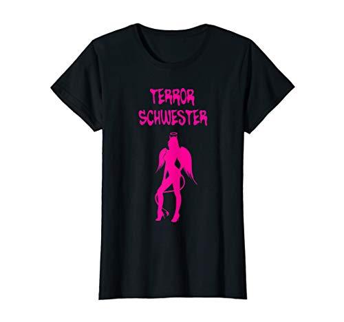 Damen Terror Schwester - Engel Teufel Freundin Shirt