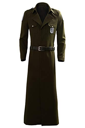MingoTor Attack on Titan Season 3 Eren Cosplay Kostüm Scouting Legion Soldier Officer Uniform Herren - Eren Cosplay Kostüm