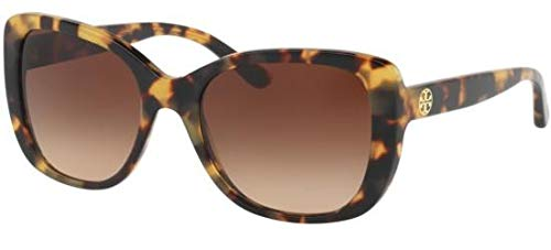 Tory Burch Sonnenbrillen TY 7114 Blonde Havana/Brown Shaded Damenbrillen (Burch Sonnenbrille Tory)