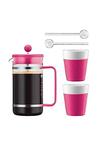 Bodum Kaffeeset Bistro - 6-teilig - 1,0l Kaffeebereiter mit 2