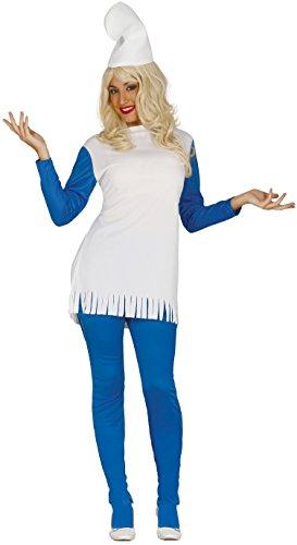 Erwachsene Kostüm Schlumpfine Für - Guirca 80426 Zwerg, Blau, Größe L 42-44