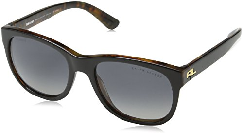Ralph lauren 0rl814160t3 occhiali da sole, nero (top black/jerry havana/gradientgreypolar), 56 donna
