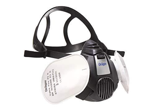 Dräger X-plore 3500 Halbmasken-Set inkl. Pure P3 Partikelfilter | Gr. M | Atemschutz-Maske für Handwerker und Heimwerker gegen Fein-Staub/Partikel -