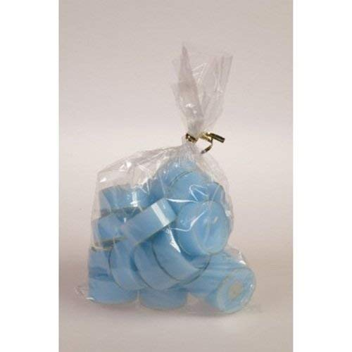 20 original Dänische Teelichter ohne Duft im Acryl-Cup farbig durchgefärbt hell blau baby blau