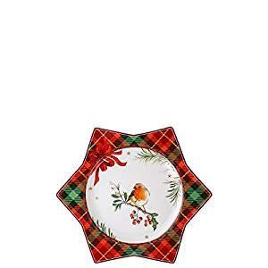 Hutschenreuther 02473-725980-10802 Assiette étoile Rouge Vert