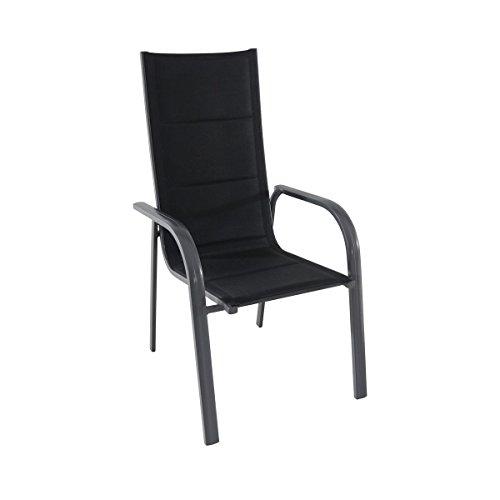 greemotion Stapelsessel Grenada anthrazit/schwarz, Sitzmöglichkeit für In- und Outdoor,...