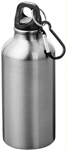Bullet - Borraccia in alluminio Oregon con moschettone - Argento