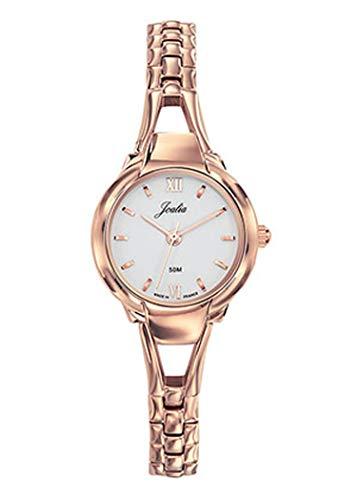 Joalia H630M570 - Orologio da donna con cinturino dorato e quadrante bianco
