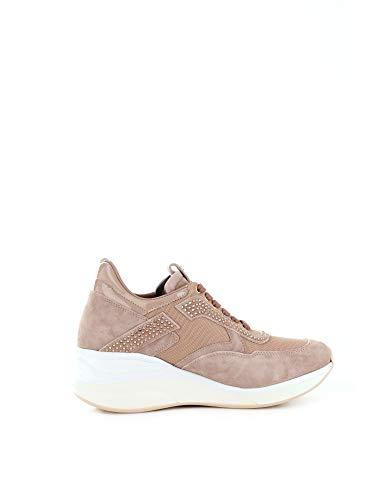 Cesare Paciotti 4Us Damen Tted3wtcabeige Rosa Leder Sneakers